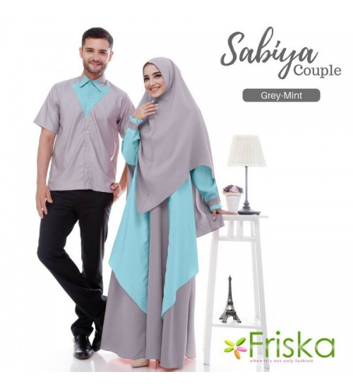 Baju Couple Lebaran 2018 Syar I Elegan Edisi Sabiya Couple By Friska