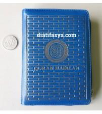 Al Quran Hafalan Resleting A6 Biru