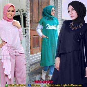 Baju Tunik Terbaru Untuk Hijaber Styles