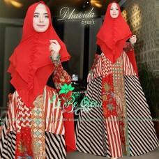 Gamis Batik Syar'i Modern Dhavida