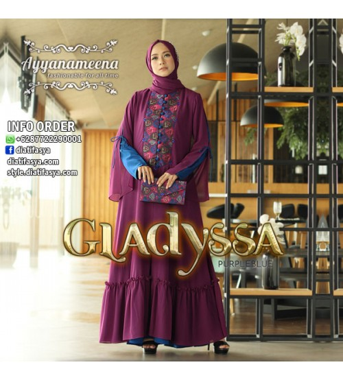 Dress Pesta Muslim 2017   2018 Gladyssa by Ayyanameena d78b93212a