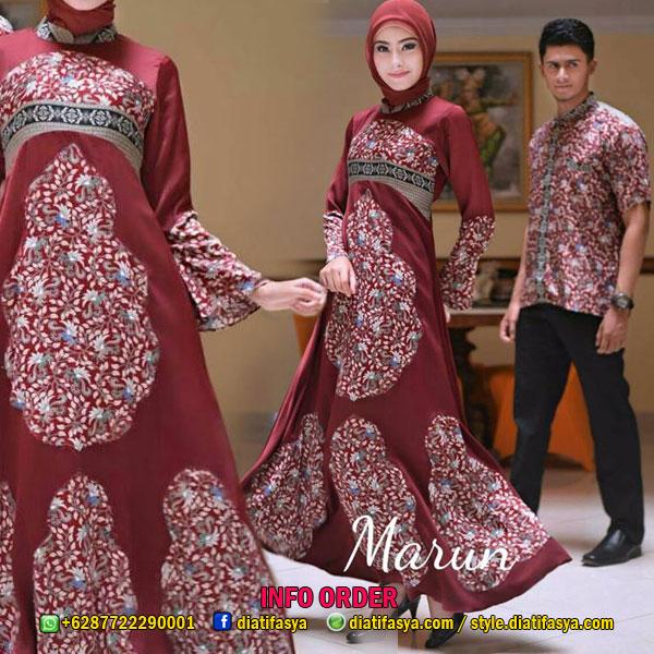 Gamis batik couple set Hanan  Haneen untuk Pesta dan Lebaran 2017