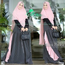 Gamis Syar'i Miss Polka by Be Glow