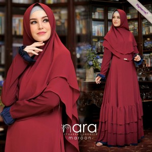 Gamis Syar'i Simple New Nara Syari by Cynnara