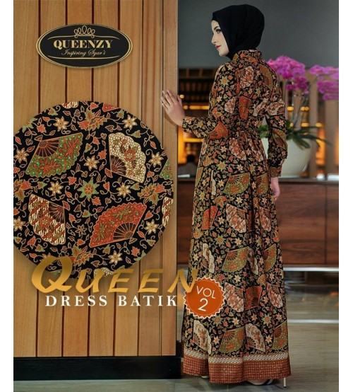 Gamis Batik Modern Elegan 2018 QUEEN dress batik VOL2 by QUEENZY 6de5cfe8f0