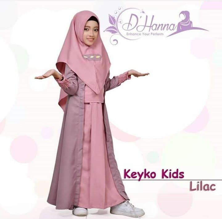 baju gamis anak elegan 2019 2020 keyko by dhanna