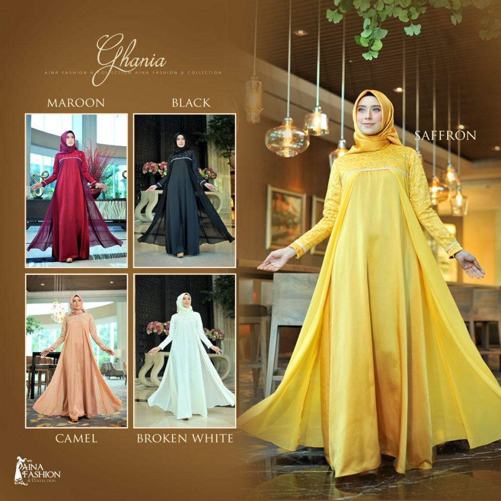 Model Baju Gamis Brokat Terbaru 2019 2020 Elegan Modern