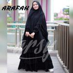 gamis hitam elegan syari 2019 2020 2021 arsy