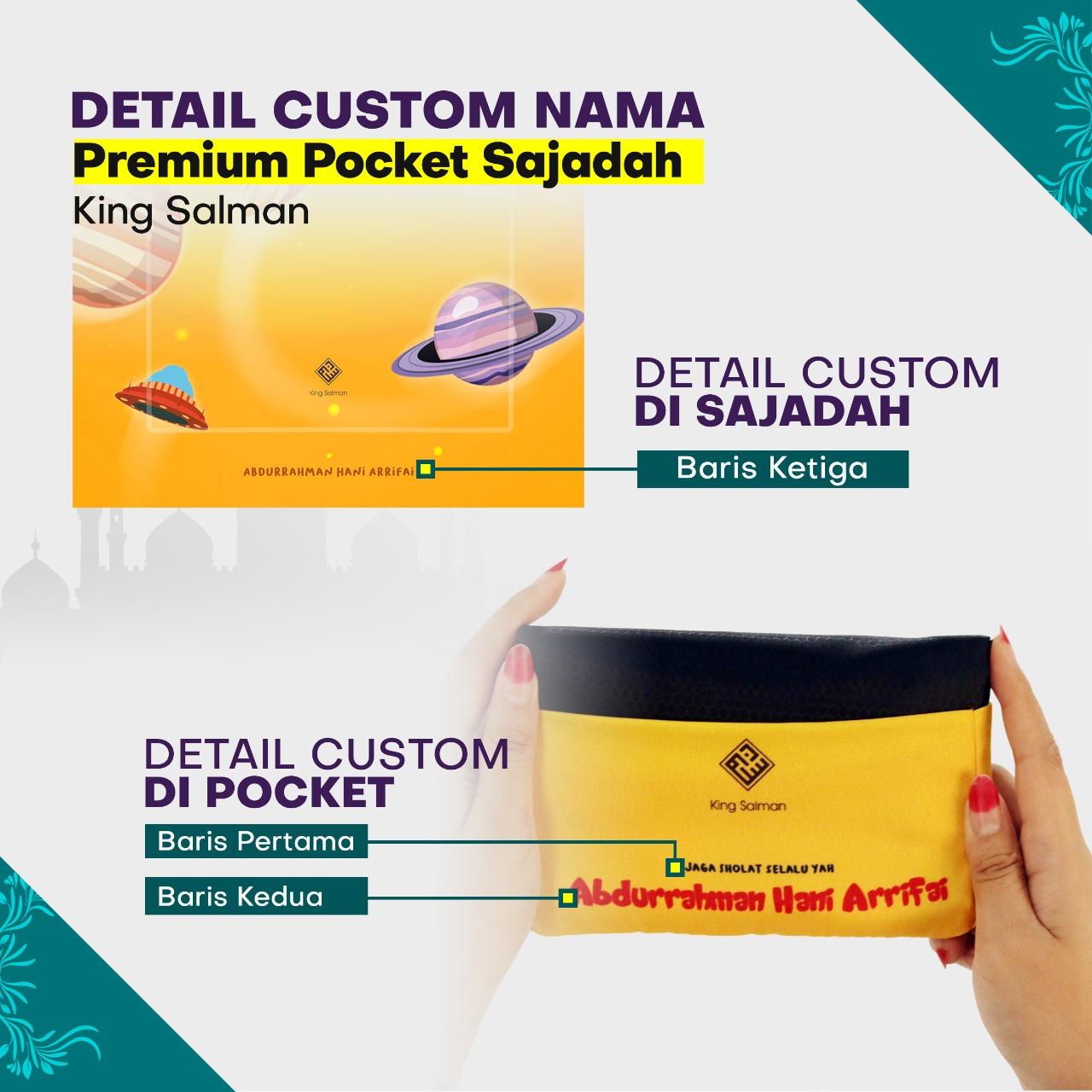 sajadah travel custom nama