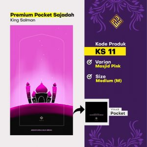 sajadah travel masjid pink