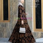 gamis sultan hitam elegan