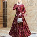 gamis sultan rayon merah