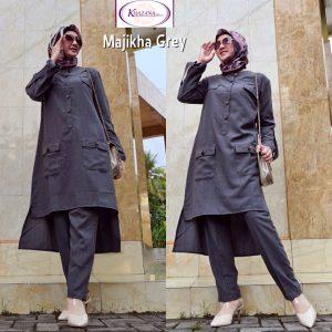 setelan baju kantor wanita hijab
