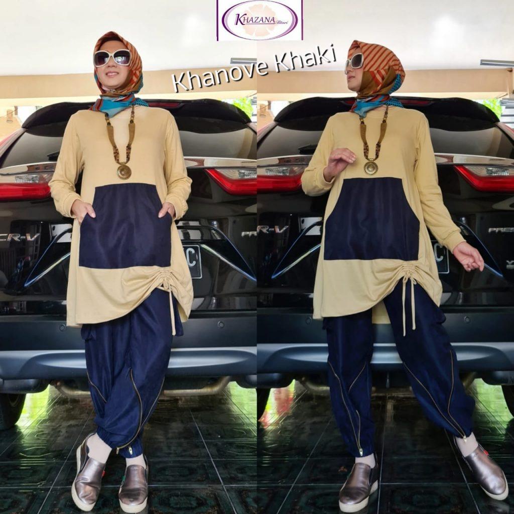 setelan kaos wanita hijab terbaru 2021