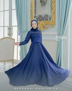 dress pesta muslimah terbaru 2021