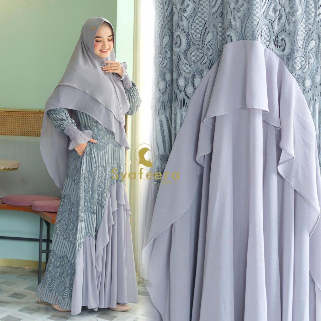 gamis burkat syari terbaru