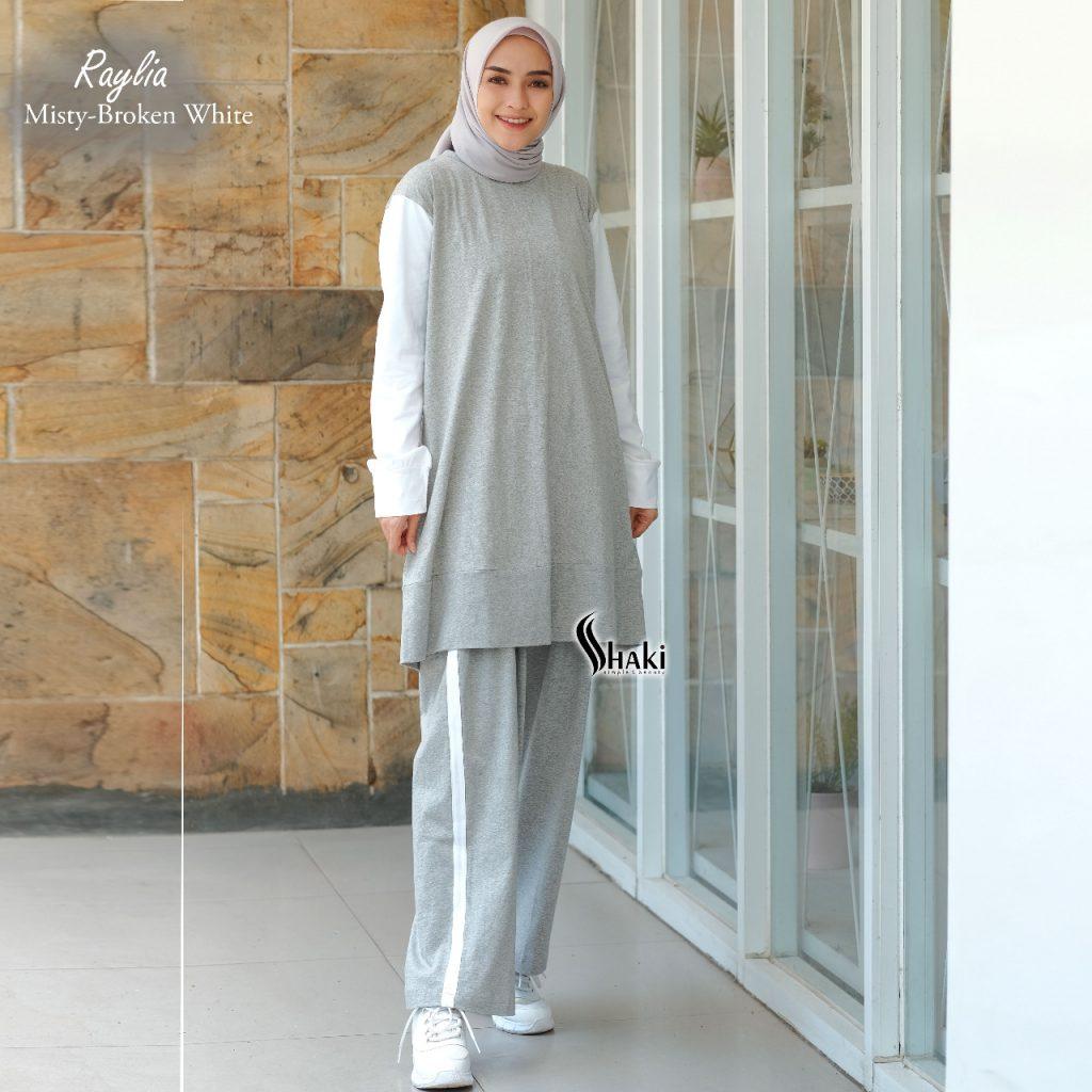 setelan baju olahraga wanita hijab