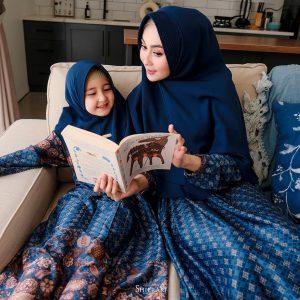 gamis batik couple terbaru syari 2021