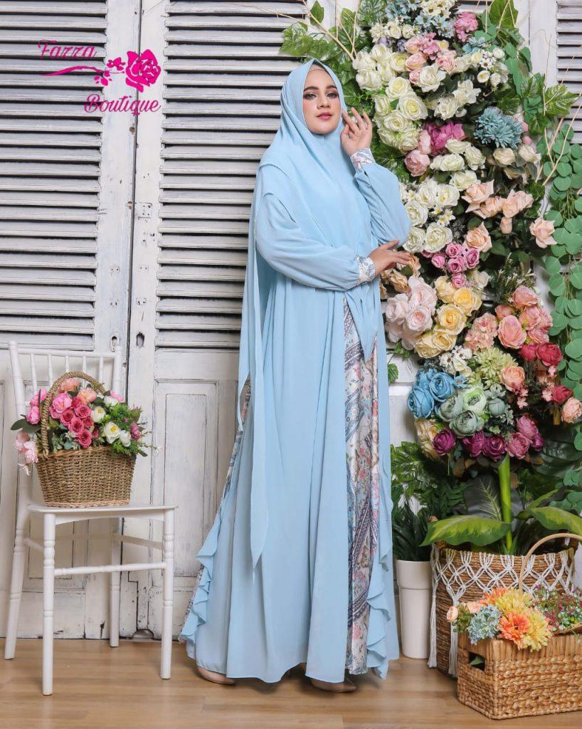 dress pesta muslimah syari 2021