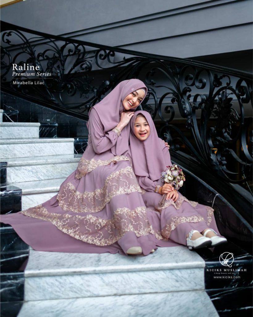 gamis couple ibu dan anak perempuan 2021