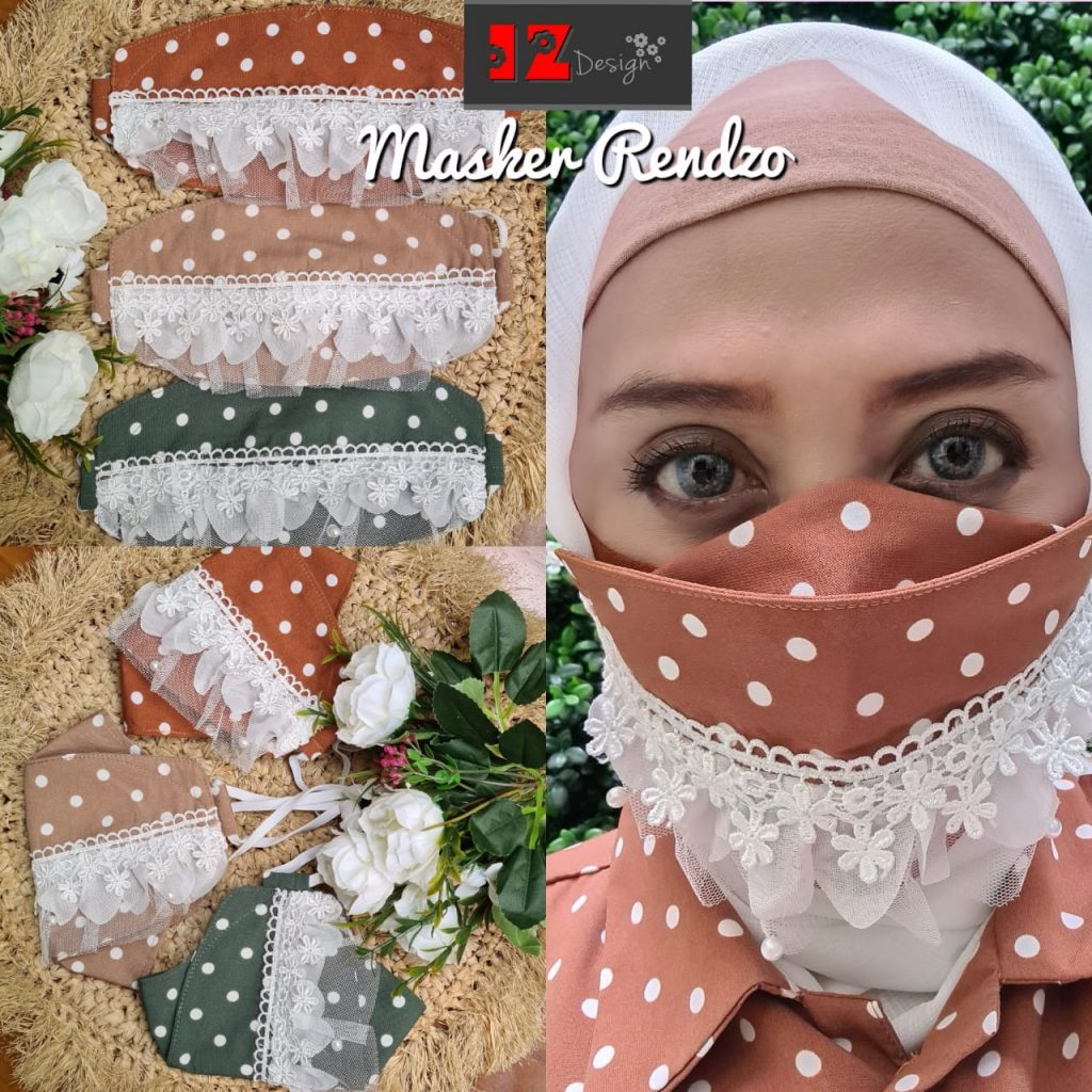 masker wanita hijab cantik 2021