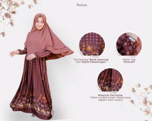 gamis batik syari elegan terbaru 2021