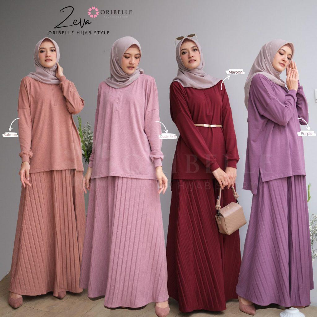 setelan wanita hijab terbaru 2021