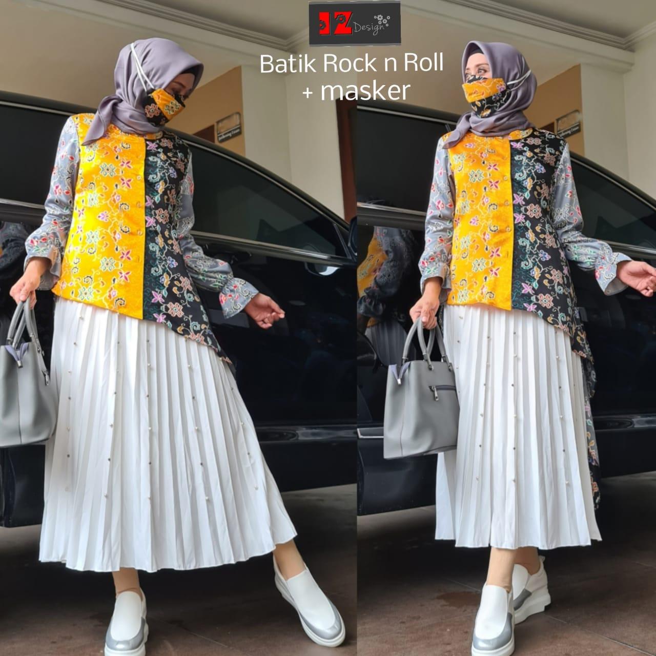 model setelan batik wanita 2021 sekarang