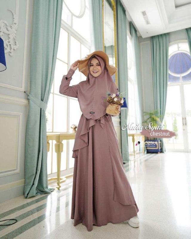 dress muslim simple elegan 2021