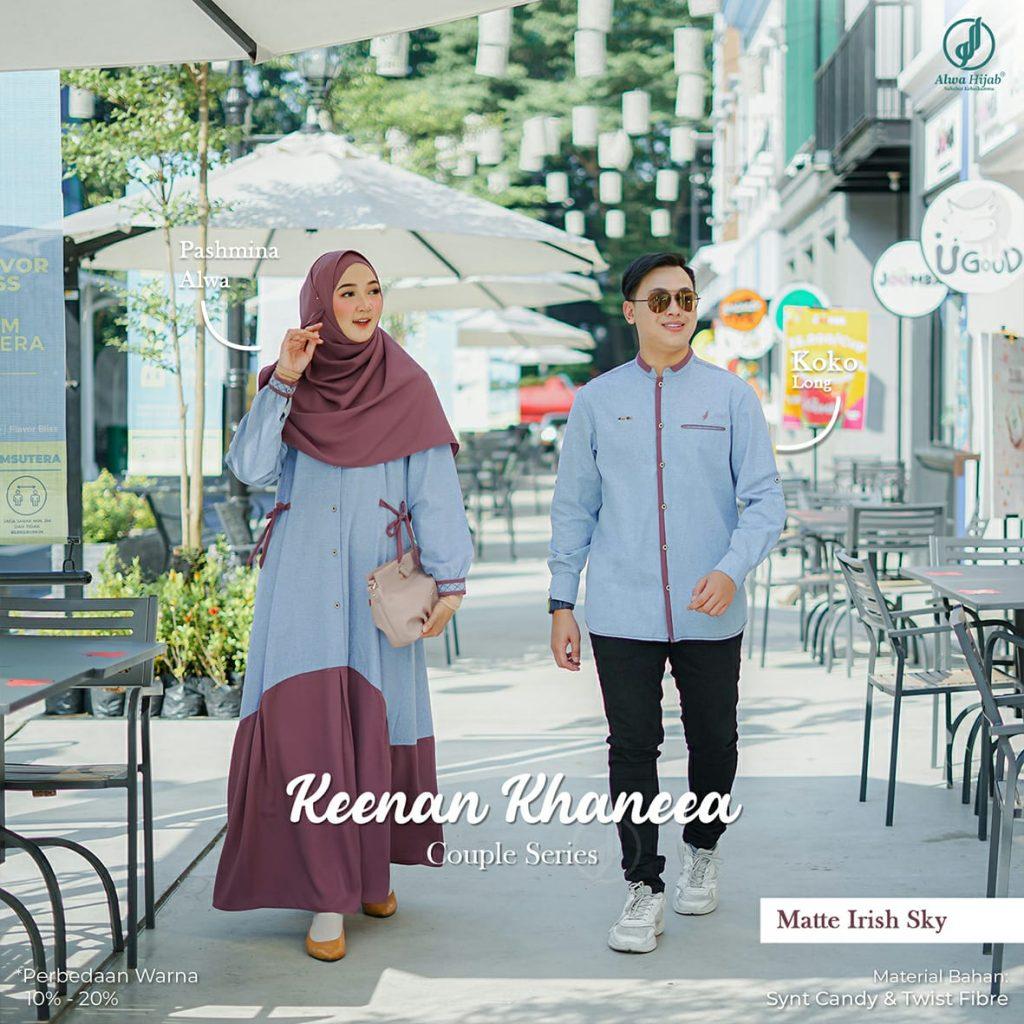 baju gamis couple alwa hijab 2021 2022