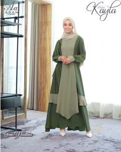 dress pesta muslimah 2021 2022 elegan