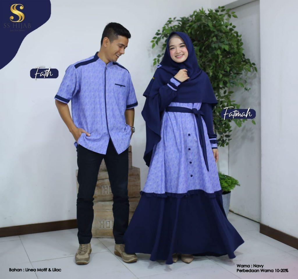 model baju gamis couple terbaru 2021