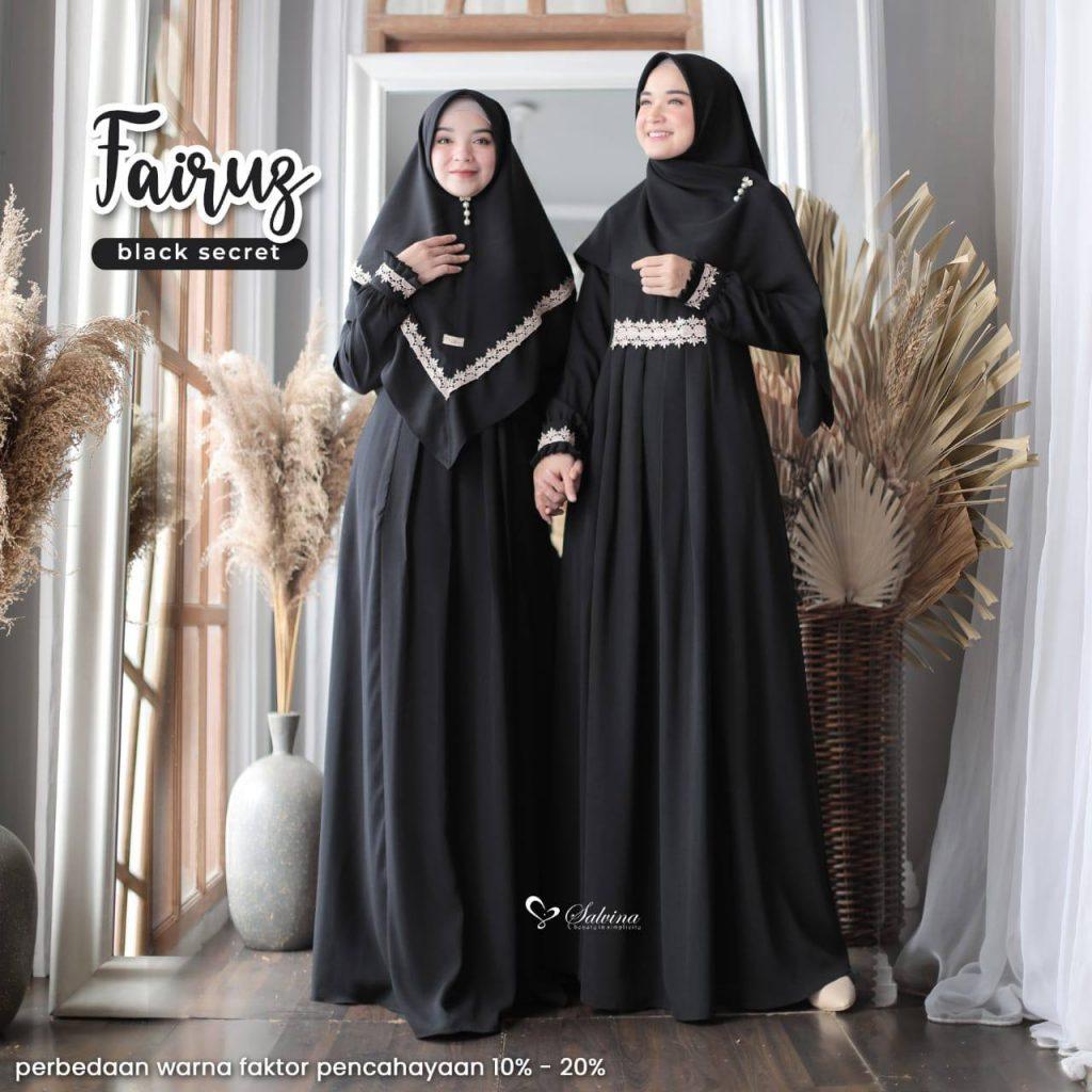 model gamis hitam syari elegan 2021 2022