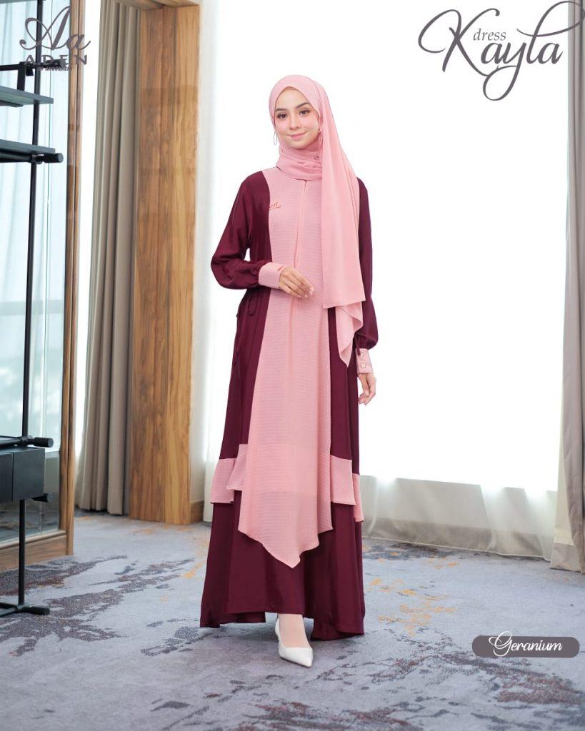 model gaun pesta muslim 2021 2022