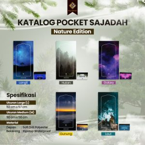 sajadah pocket premium