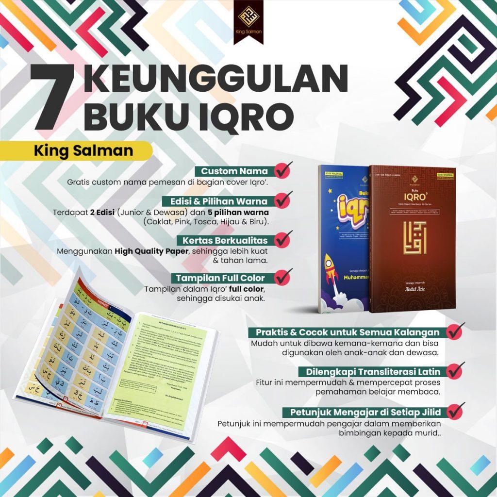 buku iqro king salman lengkap jilid 1 sd 6