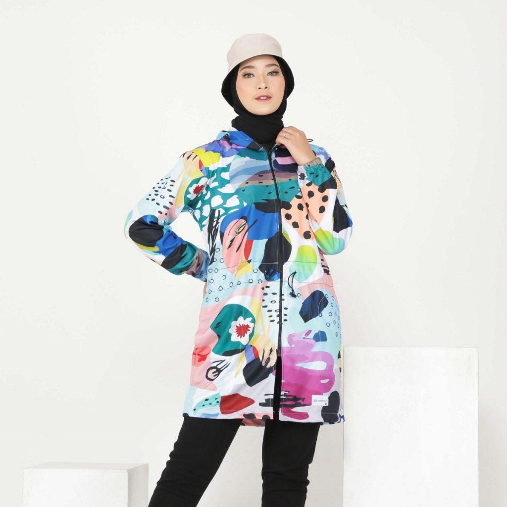 jaket printing wanita hoodie